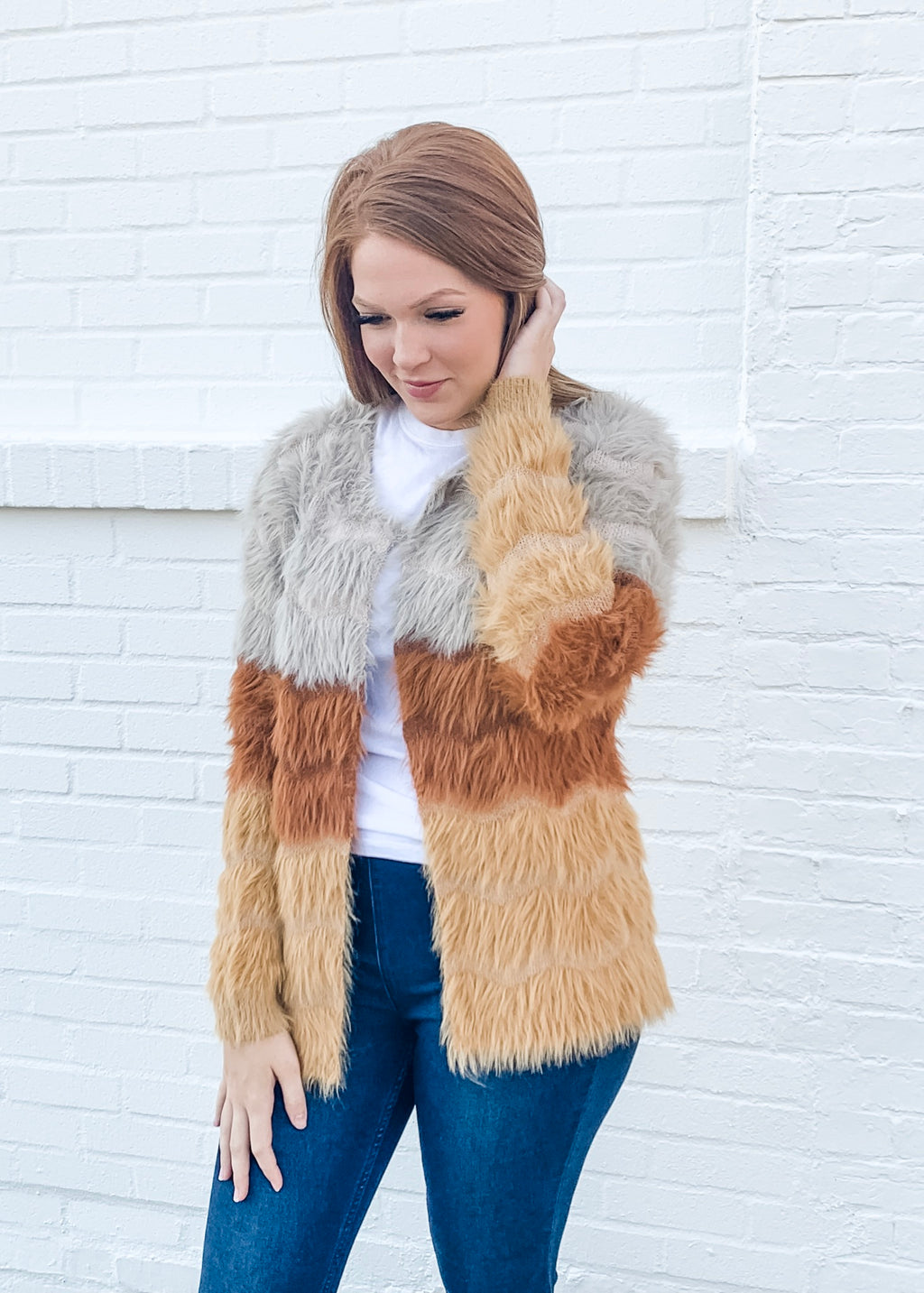 Multi Color Fuzzy Coat