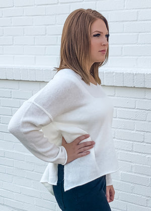 Hi-Lo V-Neck Sweater