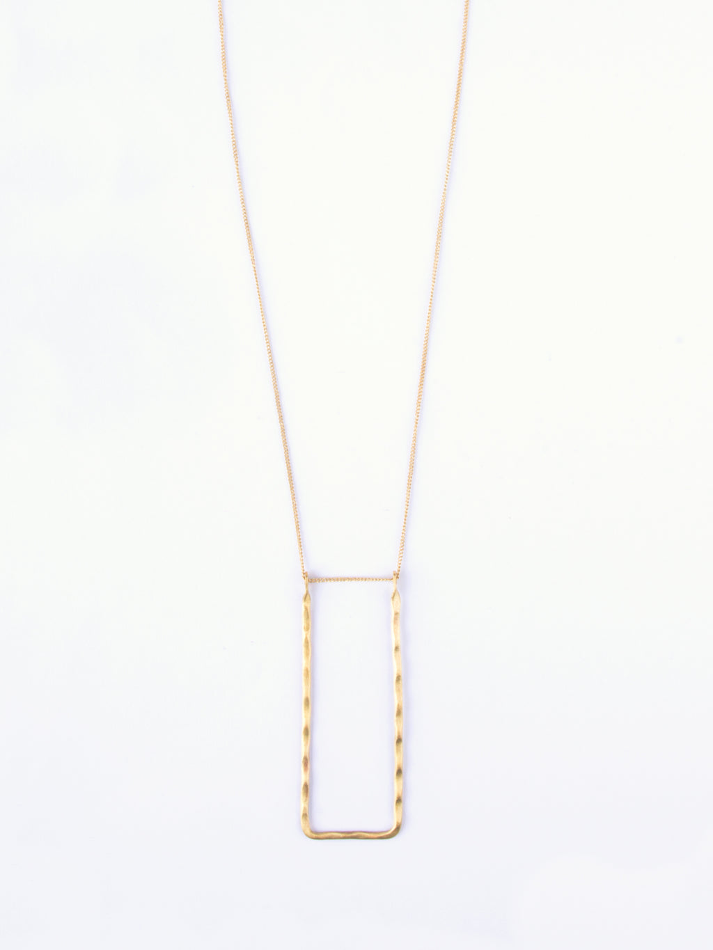 Gold Delicate Frame Necklace