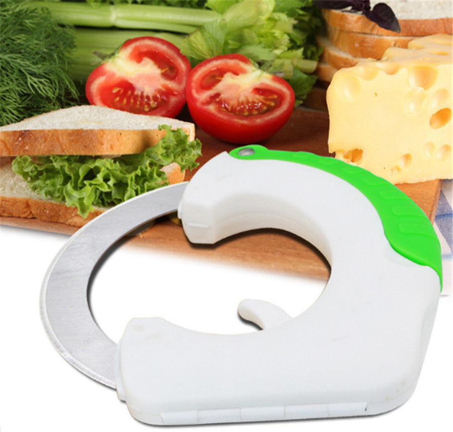 Circular Pizza Wheel Knife Vegetable Chopper Kitchen accessories slicer Pastry Cutter Hand held Rolling Knife