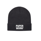 PW KNIT CAP BLACK