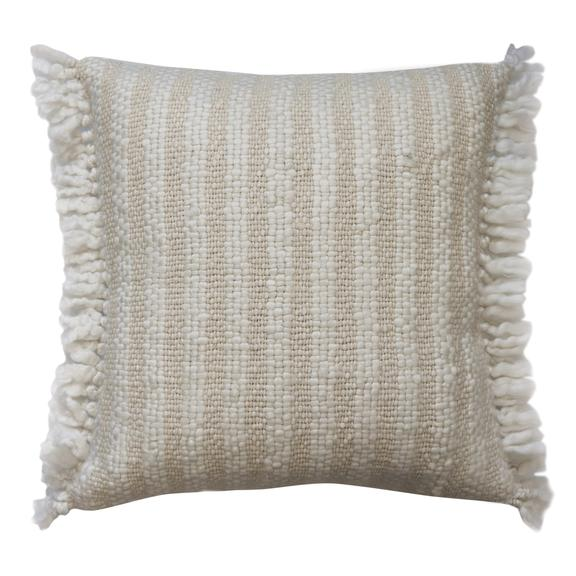 Wallis White Natural Cushion
