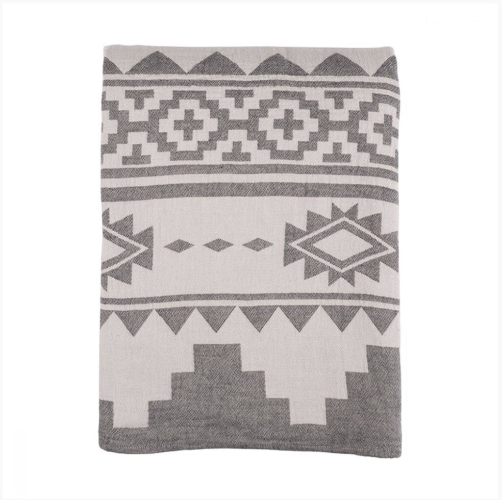 Rug Bed Cover Black 160x260cm