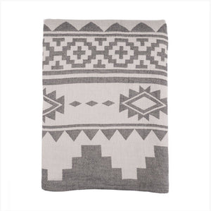Bed Cover Black Aztec
