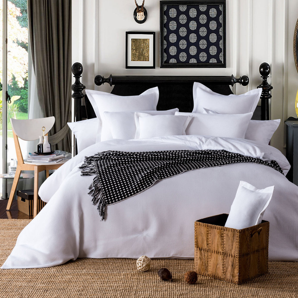 Waffle Quilt  Cover Set | 100% Cotton