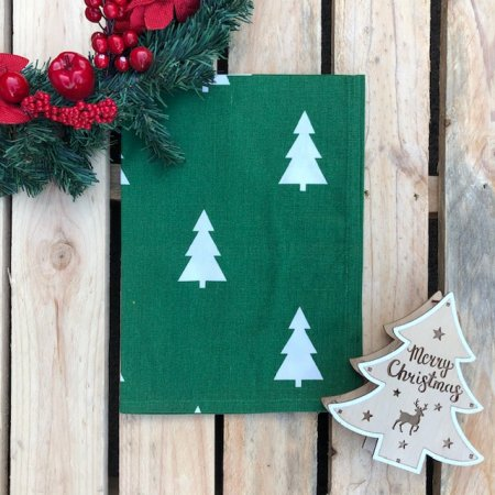 Green Christmas Tree Kitchen Towel
