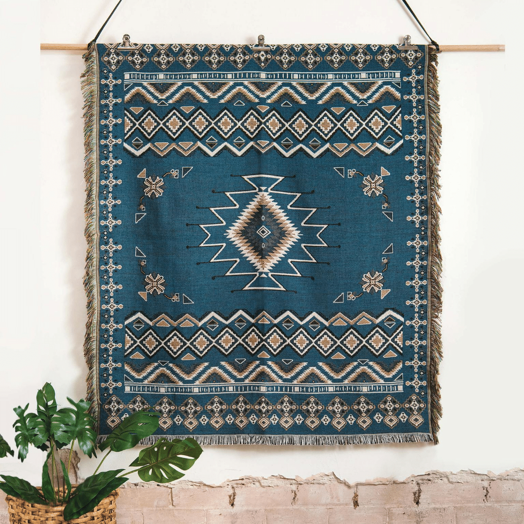 Let It Be - Woven Picnic Rug/Throw 130 x 160