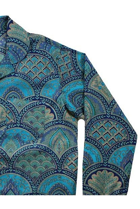 Blue Paisley Long PJ Set