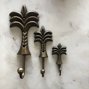 Brass Palm Tree Hook -