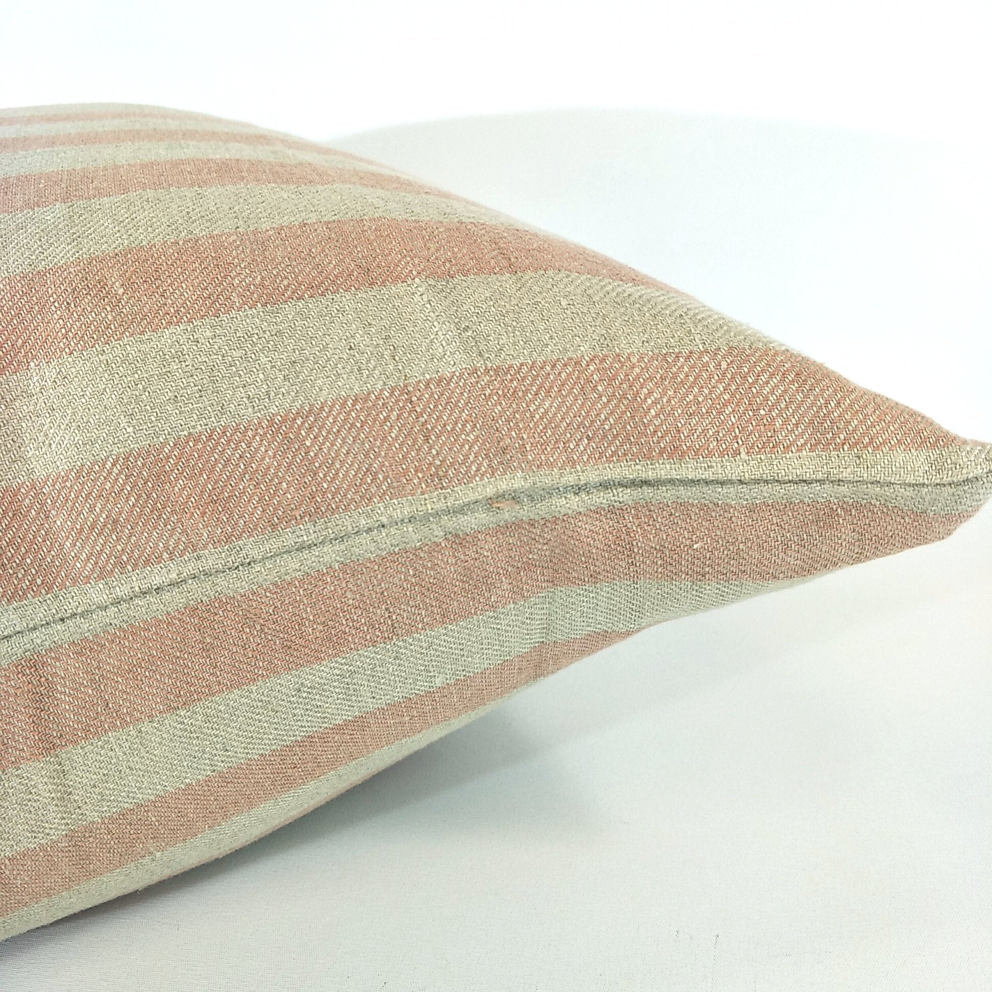 Carss Dusty Pink Heavy Weight Linen Cushion 50 x 50cm Feather Filled