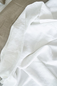 French Linen White Flat Sheet Only