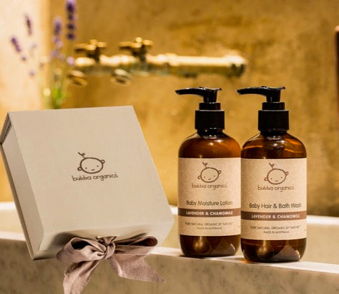 Baby Bath and Body Gift Boxes - Lavender & Chamomile and Australian Goats Milk