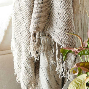Mayla  Hand Loomed Linen Throw 140 x 200cm