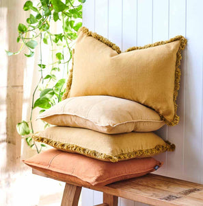 Luca Bohemian Cushion Spun Gold