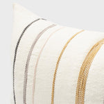 Load image into Gallery viewer, Moro Cushion White with Multicoloured Stitching