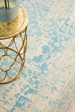 Load image into Gallery viewer, Evoke White/Blue Rug - Pre Order