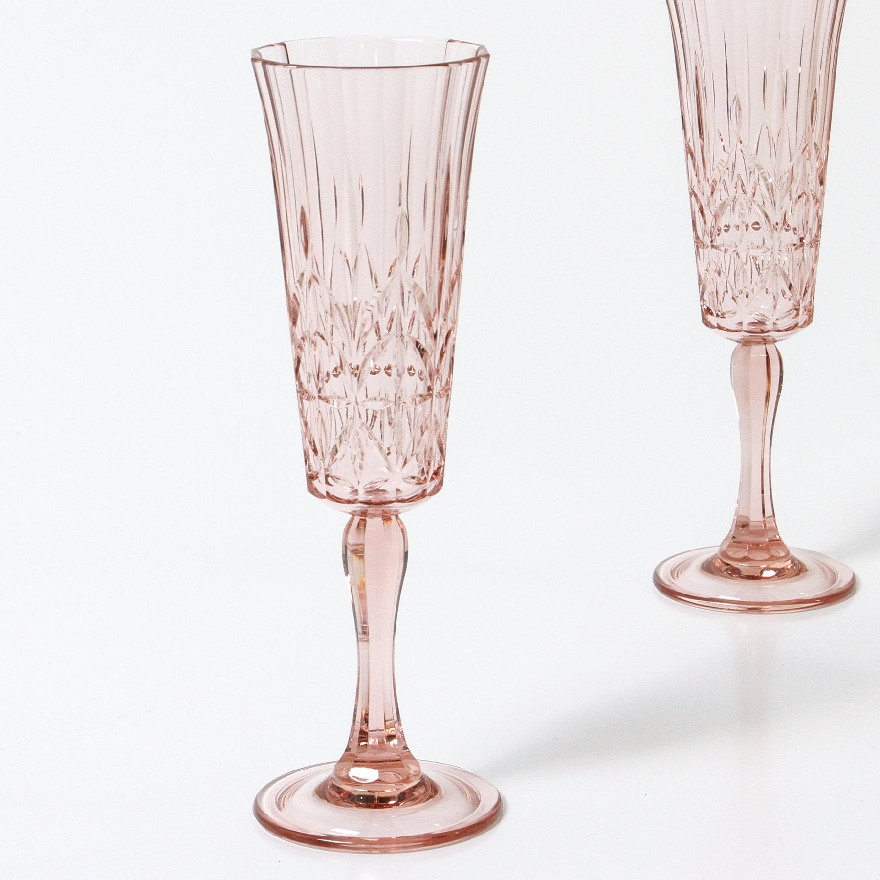 Pavillion Acrylic Champagne Flute - Clear or Pink