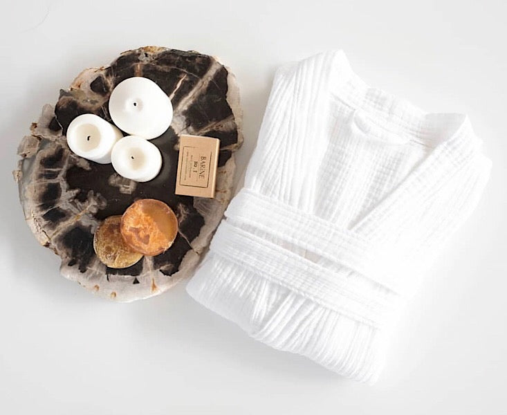Cocoon Bath Robe - White