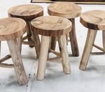 Load image into Gallery viewer, Indi Teak Stool PRE - ORDER
