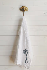 Load image into Gallery viewer, Ink Palm Tea Towel by Libby Watkins