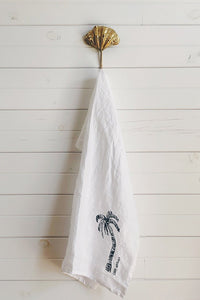Ink Palm Tea Towel by Libby Watkins