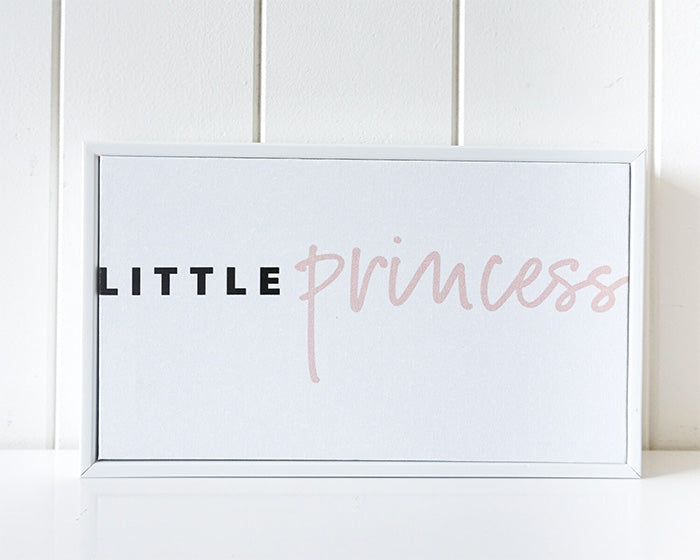 Little Princess Framed Canvas Quote 25 x 15cm