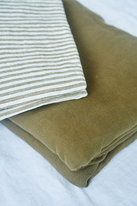 French Linen Padded Bed Cover