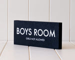 Load image into Gallery viewer, 'Boys Room' Wooden Plaque
