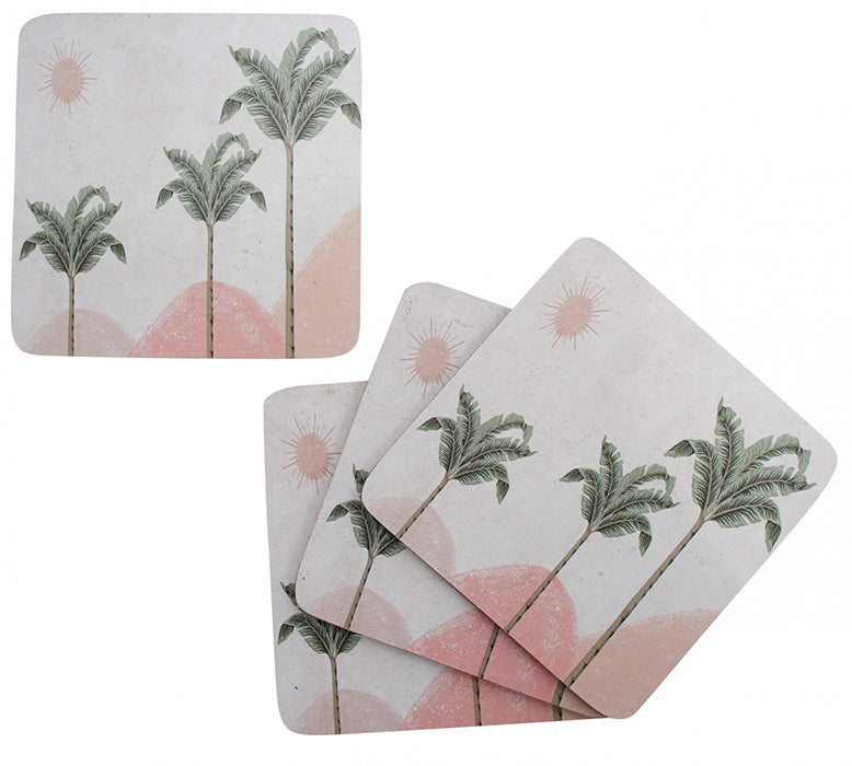 Havana Palm Coasters Set of 4