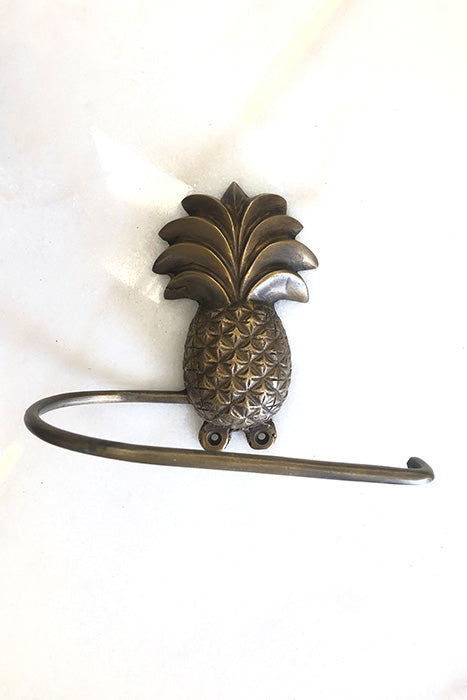 Brass Pineapple Toilet Roll Holder
