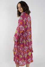 Load image into Gallery viewer, Pink Paisley Kimono One Size