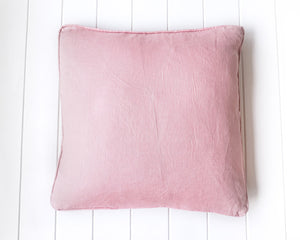 Pink Linen Cushion with Feather Insert 50 x 50cm