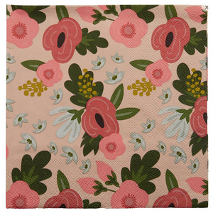 Poppy Pink Napkins 20 pack 3PLY