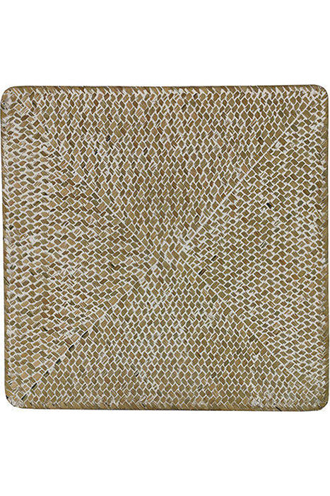 Square Rattan White-Washed Placemat