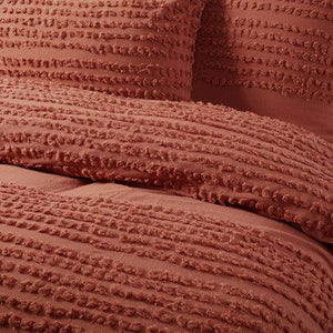 Betty Cotton Quilt Cover Set Tobacco