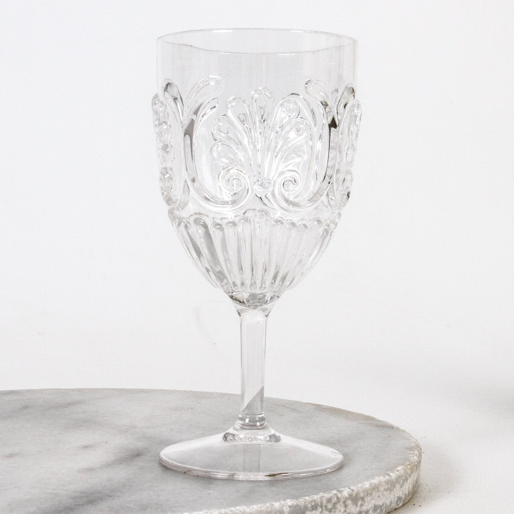 Flemington Acrylic Wine Glass - Clear, Pink, Green, Amber, Blue.