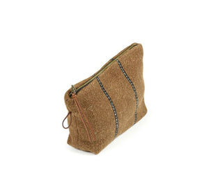 Stripe Gus Pouch, Wool Washed - 23 x 16cm