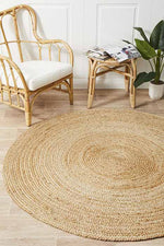 Load image into Gallery viewer, Jute Natural Round Rug - Pre Order