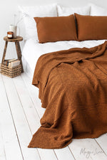Load image into Gallery viewer, Linen/Cotton Waffle Blankets