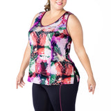 Plus size tank, UK size 14-24, Front view