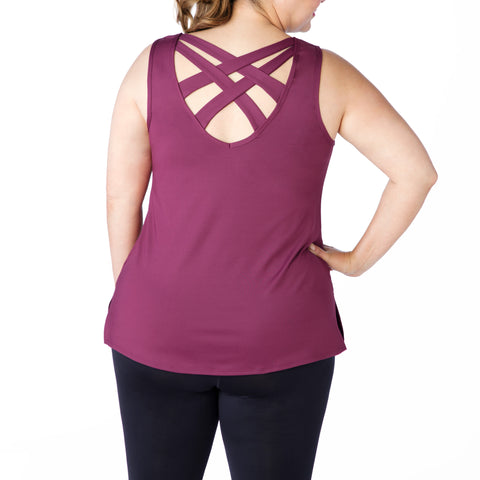 Plus size tank, UK size 14-24, Back view