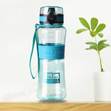 BPA Free Leak-Proof Plastic Water Bottles w/ Cover Lip Filter
