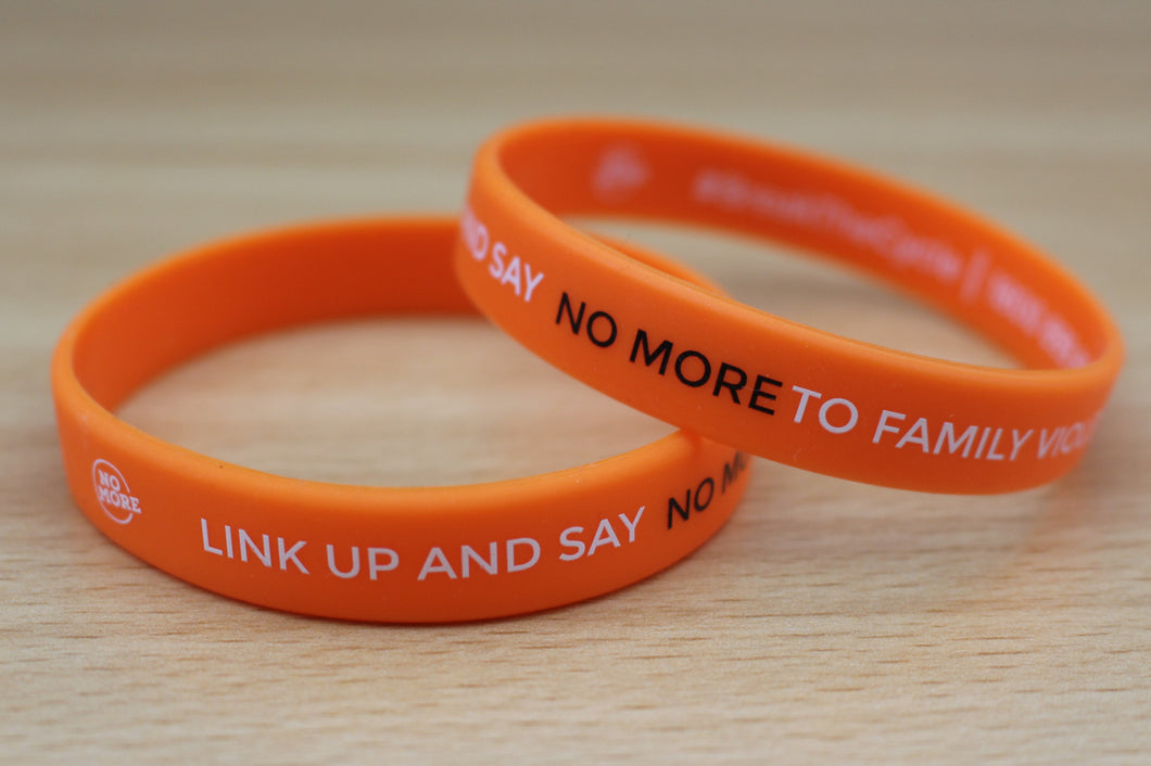 NO MORE Campaign wristbands (orange) - Bag of 20