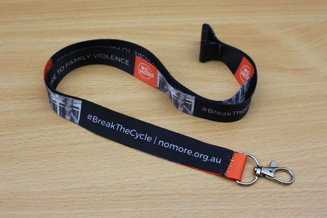 NO MORE Campaign lanyard