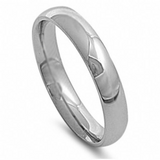 5mm Silver Stainless Steel Ring Mens Women's Wedding Band