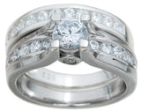 2.5ct Round Cut Wedding Ring Set Engagement Diamond Simulated CZ 925 Sterling Silver Platinum ep