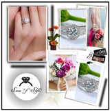 3.25c Engagement Ring Wedding Eternity Band Womens Simulated Diamond 925 Sterling Silver CZ