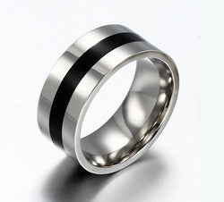 Titanium Steel Ring 9mm Men's Wedding Band