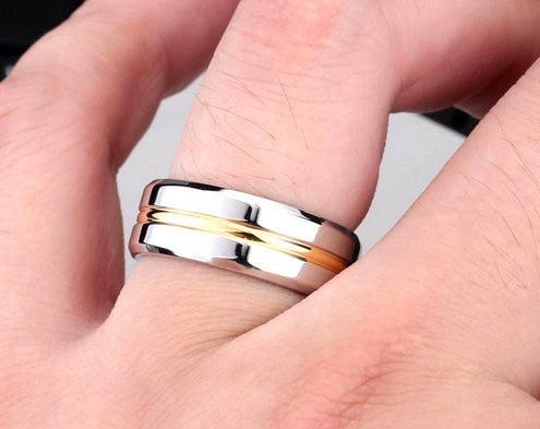 7mm Silver Gold Titanium Stainless Steel Ring Men S Wedding Band Silve A Sense Of Style