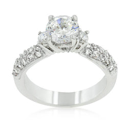 2.22C Round Cut Engagement  Ring Wedding Band Diamond Simulated CZ 925 Sterling Silver Platinum ep
